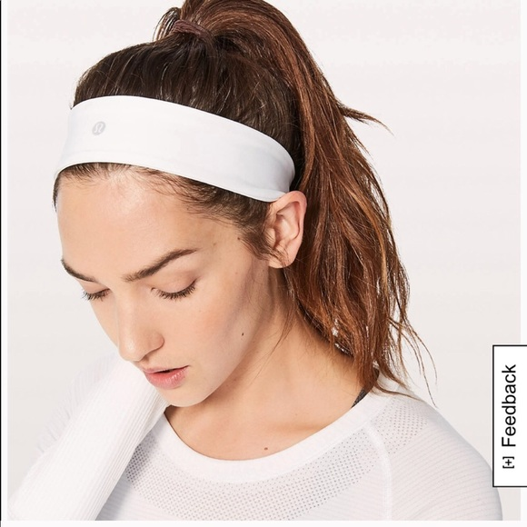 lululemon athletica Accessories - Lululemon 👑white thick headband d1049e99090